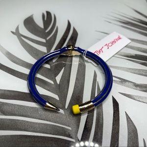 NWT Betsey Johnson Blue Pencil Bangle